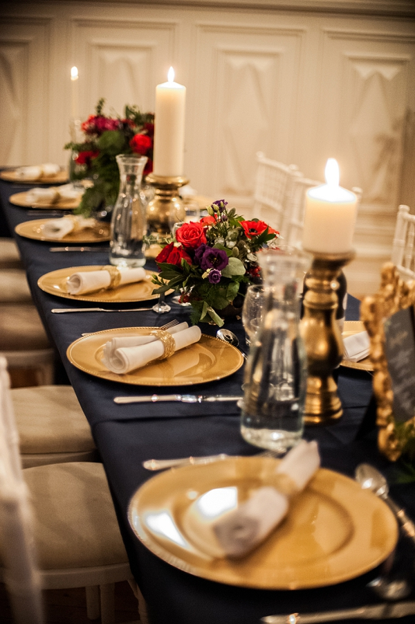 Gold inspired place settings