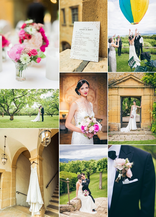 Heartfelt Outdoor Château de Bagnols Real Wedding Snapshot