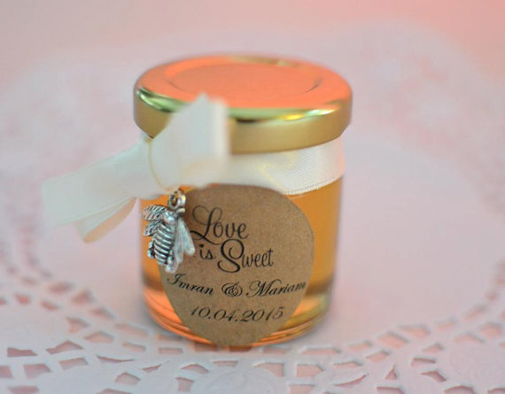 Honey Bee Charm Jar Wedding Favour