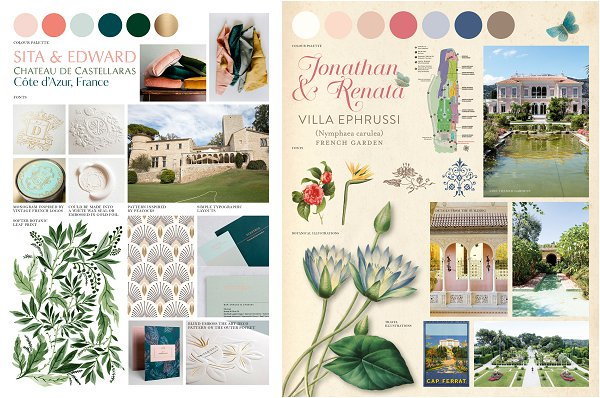 Louise Richardson French Wedding Stationery Mood boards