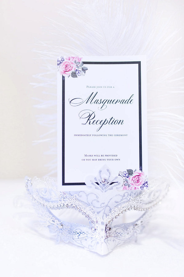 Masquerade wedding reception