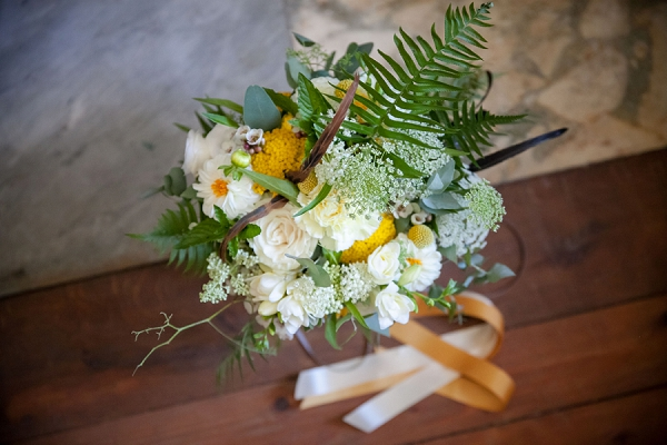 Yellow inspired brial bouquet