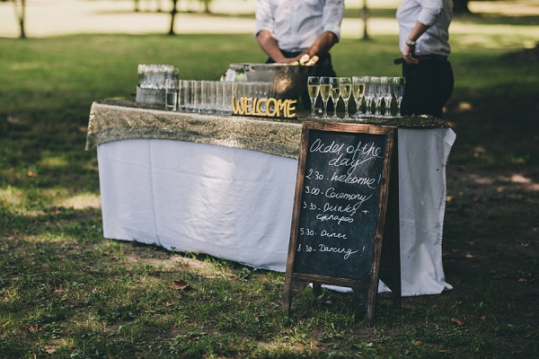 champagne wedding bar