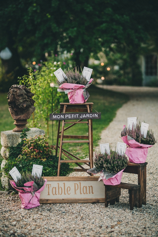rustic table plan