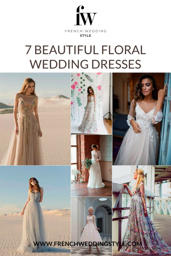 7 Floral Wedding Dresses Etsy