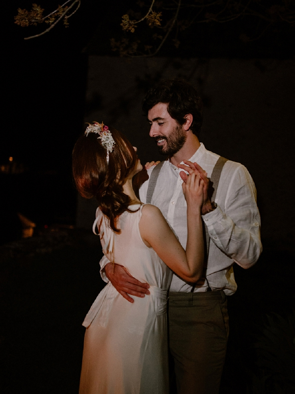 Candlelit outdoor first dance