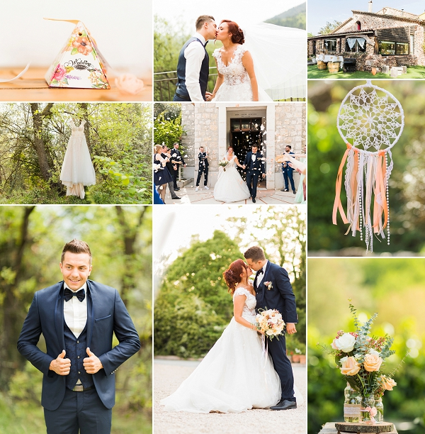 Dreamcatcher Inspired Mas des Bartavelles Wedding Snapshot