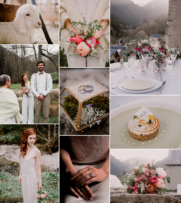 French Countryside Pyrénées Mountain Wedding Inspiration Snapshot