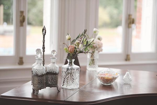 Rustic crystal wedding decorations