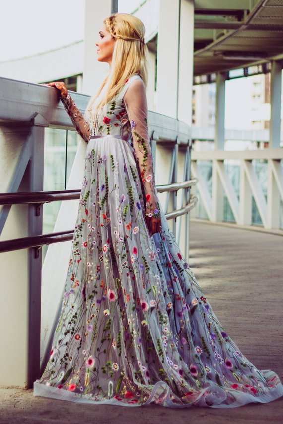 Tonena floral wedding dress