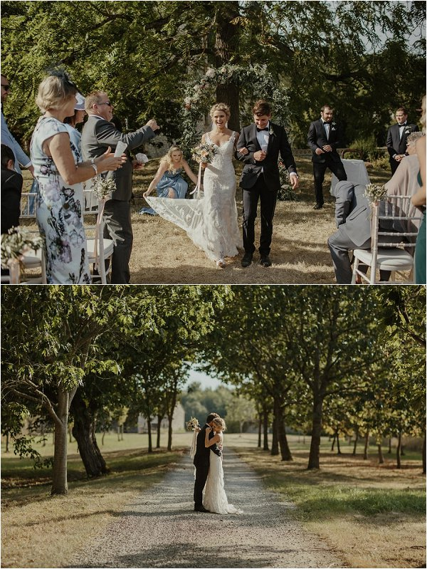 destination wedding in France at Chateau Saint Martory