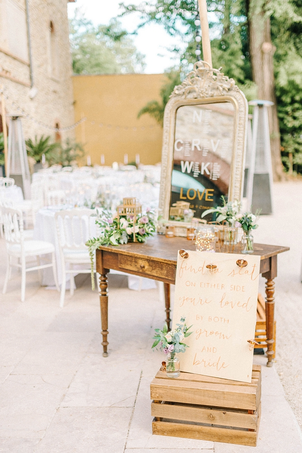 find a seat wedding sign