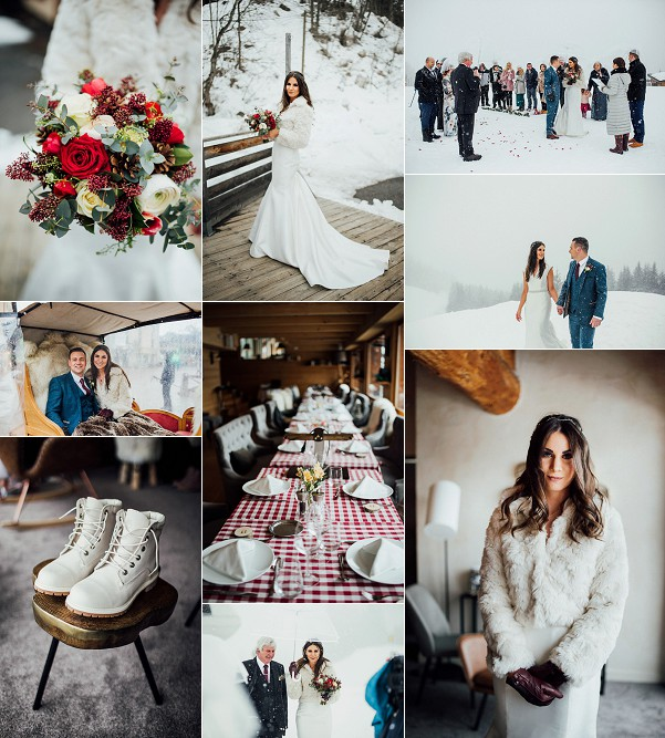 A Dreamy French Alps Winter Wedding Snapshot