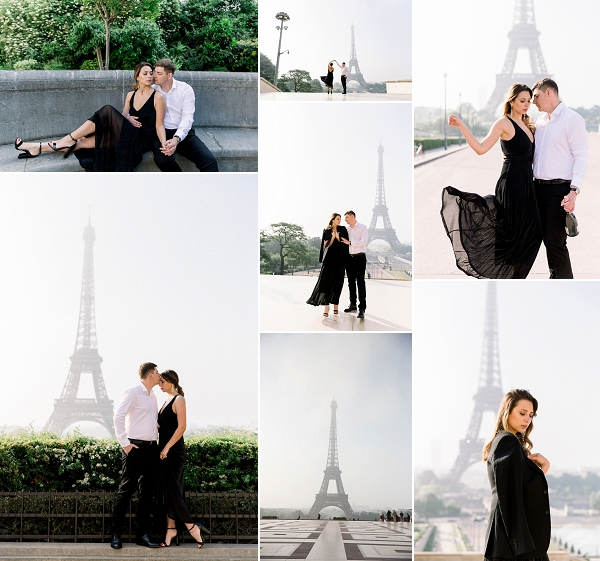 Black Tie Paris Wedding Anniversary Shoot Snapshot