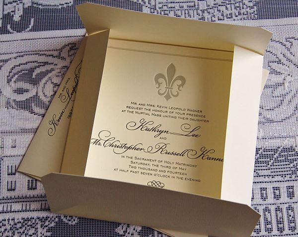French Wedding Invite Fleur de Lis