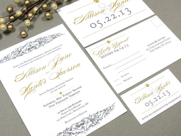 French Wedding Invite French Baroque