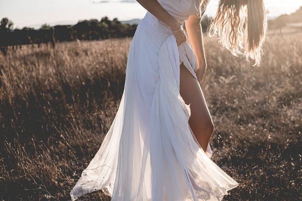 Golden hour bridal portraits