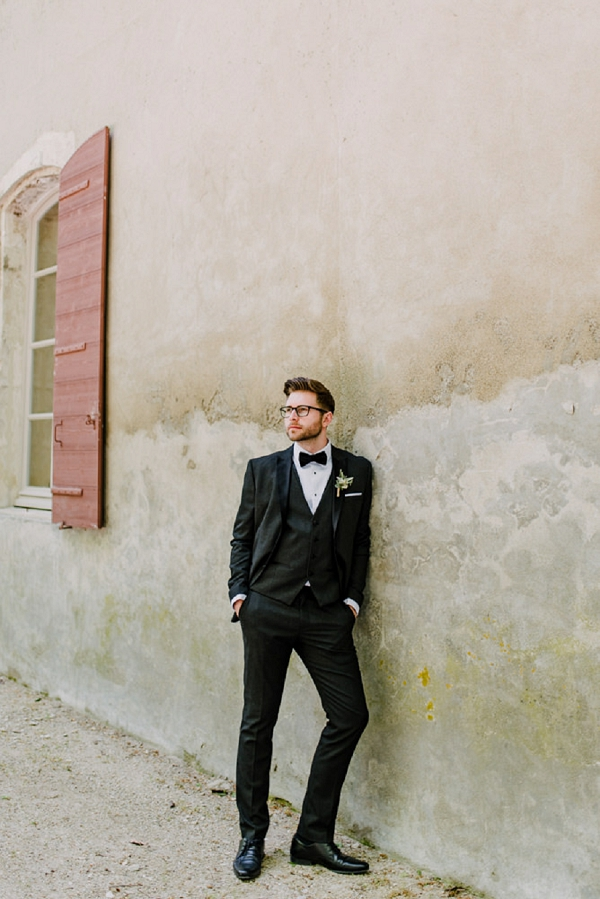 black tie french wedding