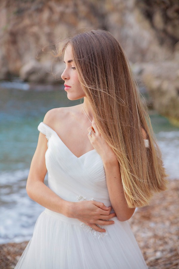 French Riviera bridal portraits