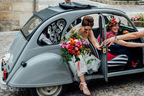 Tour de canard wedding car