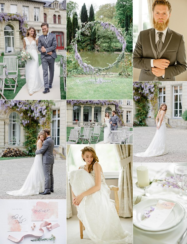 Wisteria Inspired Chateau d'Aubry Wedding Snapshot