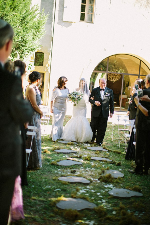 mother and father aisle walk