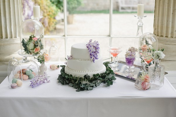 wisteria inspired desert table