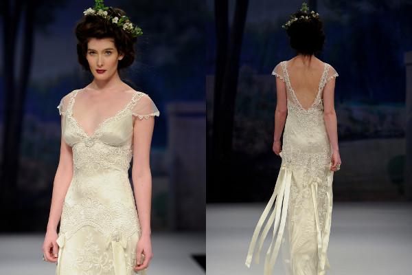 sheer satin wedding dress