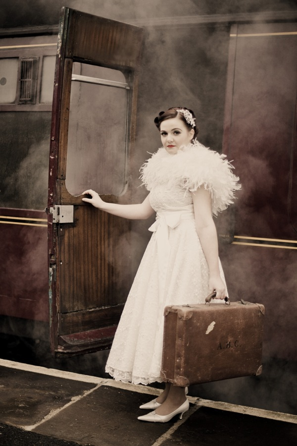 vintage train travel
