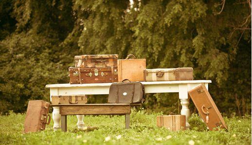 Vintage suitcase rentals