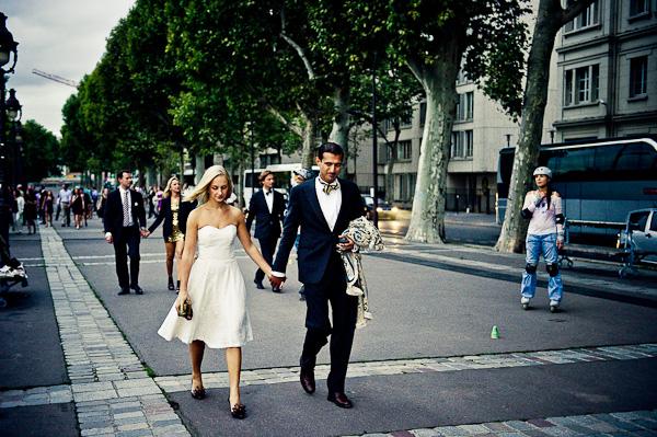 Parisian wedding guests
