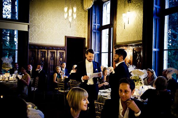 Chateau Challain wedding reception