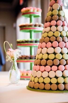 amcakes- wedding macaron tower