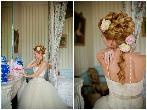 bridal hair curls