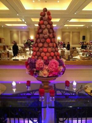 genii cupcakes - wedding macaron tower