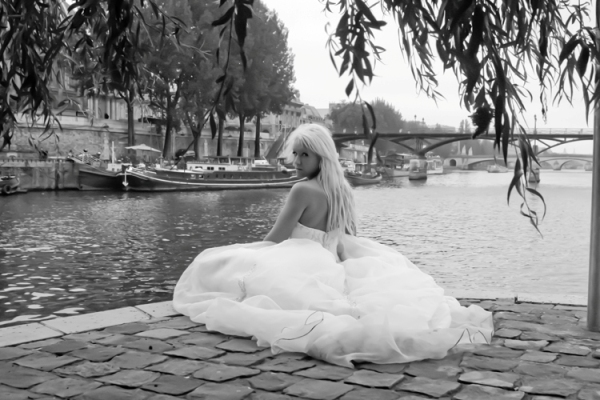 paris trash the dress shoot