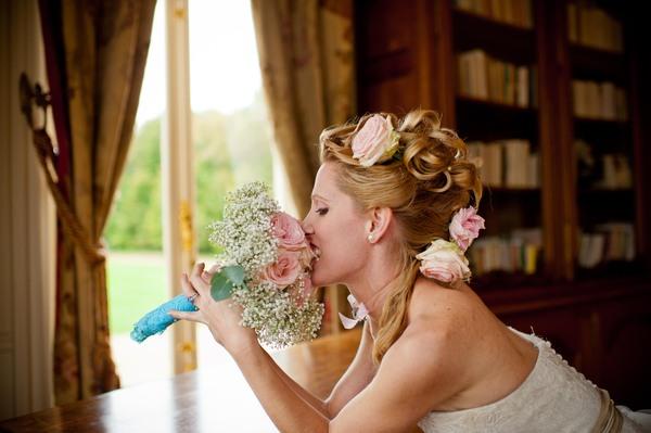 pink bridal roses
