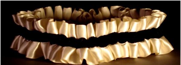 black bridal garters