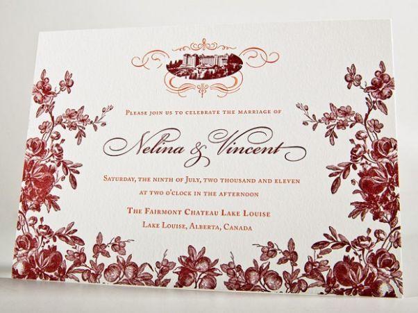 chateau wedding invitation