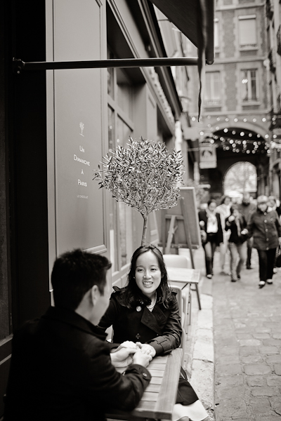 french engagement shoot