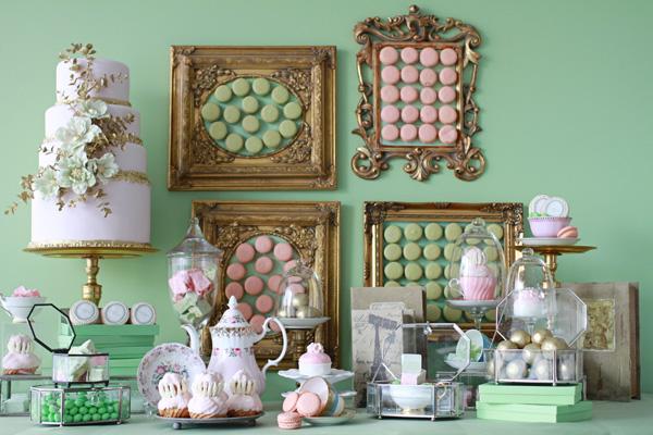 laduree desserts table