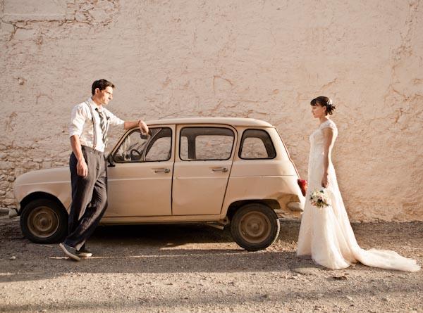retro wedding france