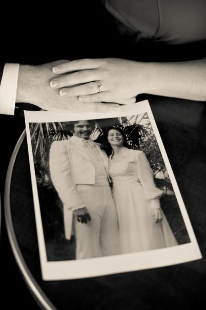 retro wedding photo