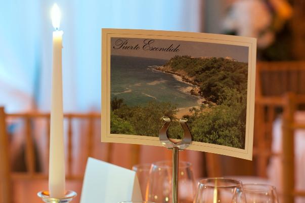 beach wedding table number