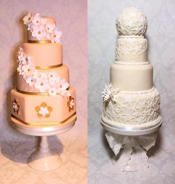 chic wedding cakes