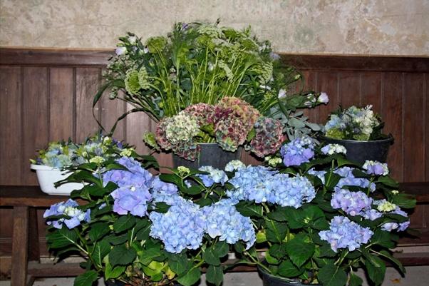 wild blue wedding flowers