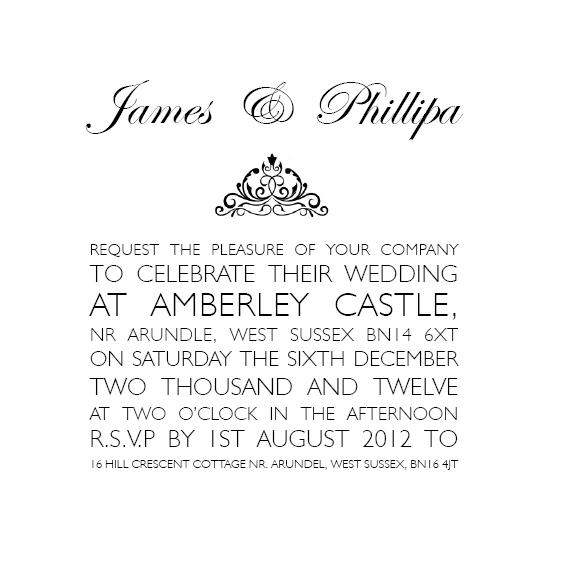 109 text style wedding invite