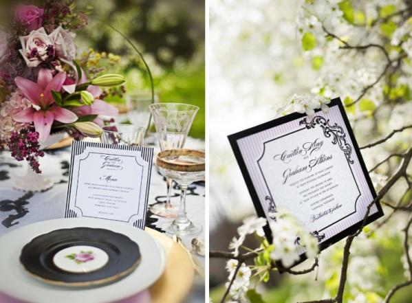 black and white chic wedding