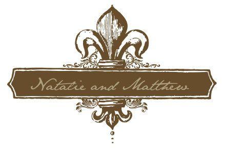 fleur de lis wedding logo