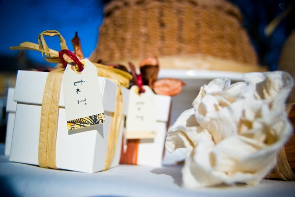 french country wedding favours